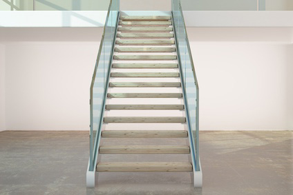 Transparente Treppengeländer